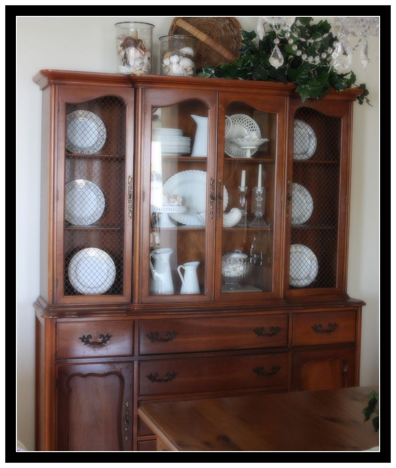 """Thrift Store China Cabinet- for Southern Hospitality's """"Thrifty ..."""