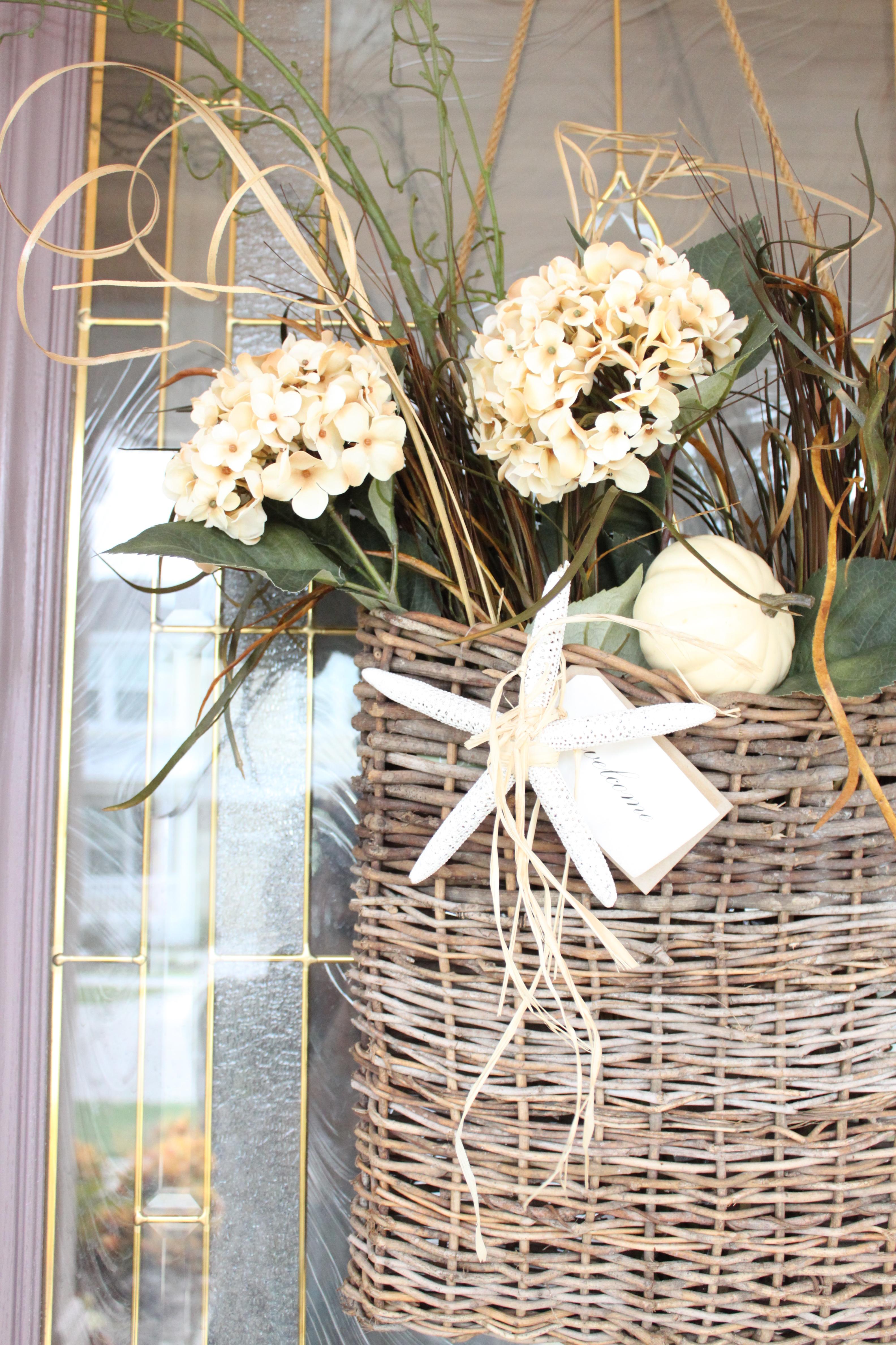 Fall Front Door Basket Starfish Cottage